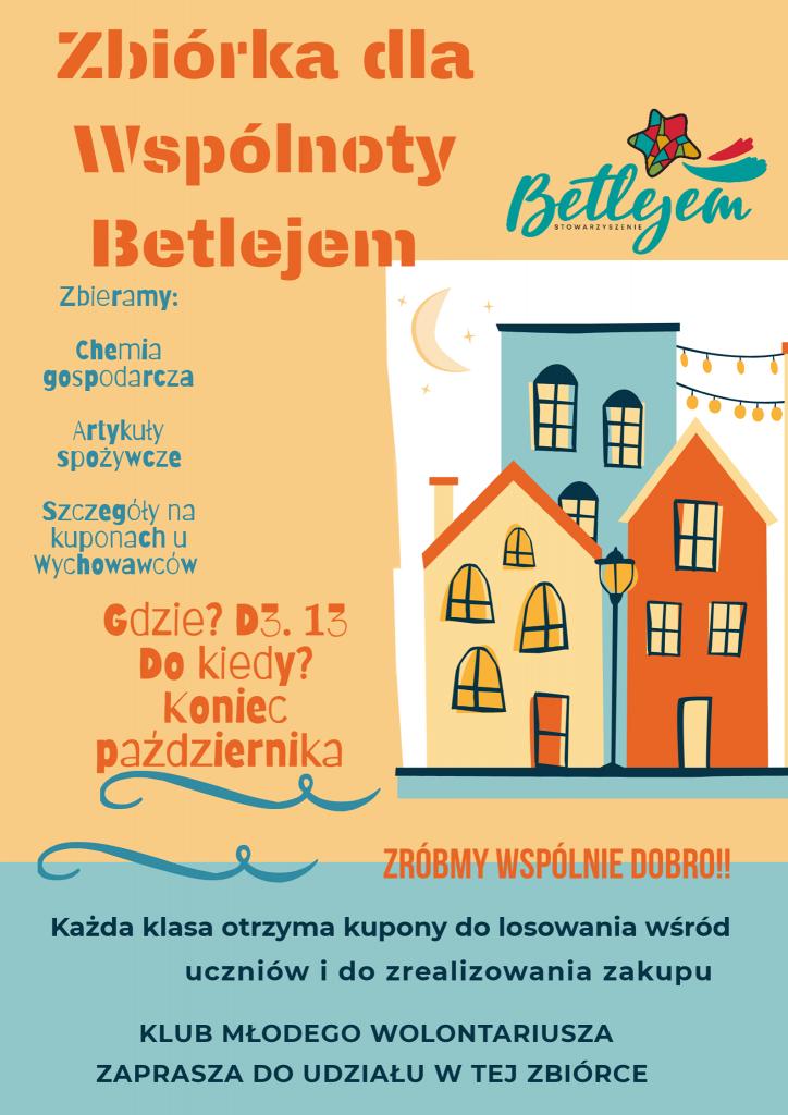 Zbiórka dla Wspólnoty Betlejem